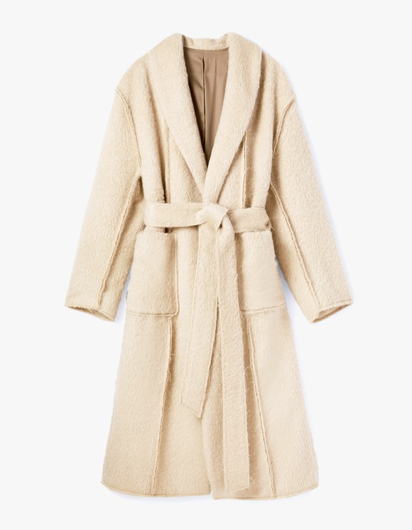 s/e/o Robe Coat - Boucle Beige | HEIGHTS. | International Store