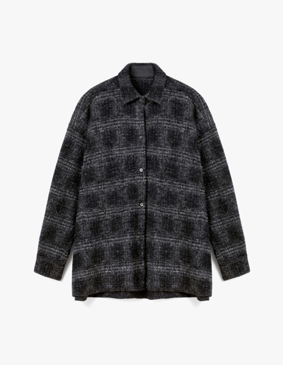 s/e/o Wool Shirt Jacket - Check | HEIGHTS. | International Store