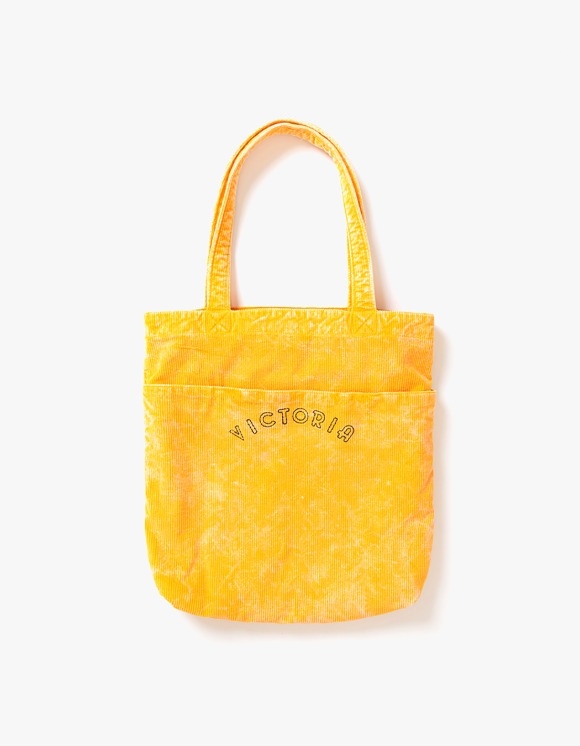 Victoria Hong Kong Bedford Corduroy Tote Bag - Yellow | HEIGHTS. | International Store