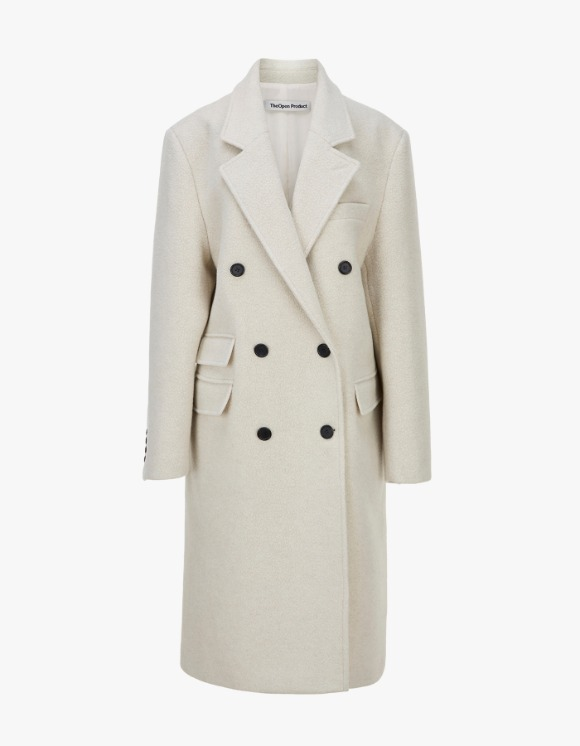 TheOpen Product Winter Double-Breasted Wool Coat - Ivory | HEIGHTS. | International Store