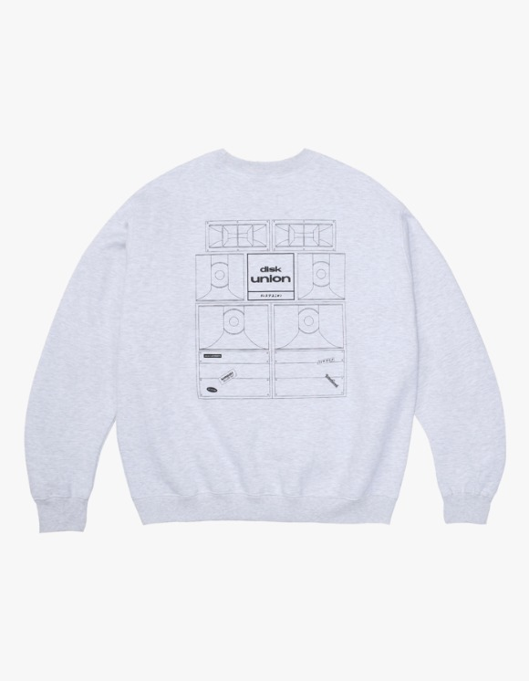 Kompakt Record Bar Sound Bombing Crewneck - Ash Grey | HEIGHTS. | International Store