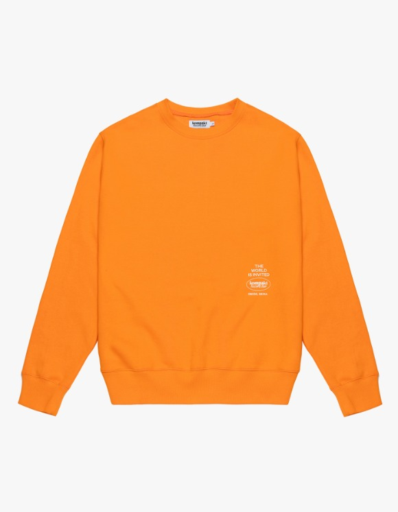 Kompakt Record Bar The World Invited Crewneck - Orange | HEIGHTS. | International Store