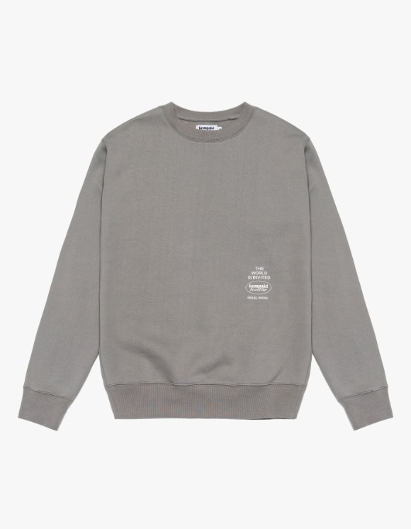 Kompakt Record Bar Original Logo Crewneck - Grey | HEIGHTS. | International Store