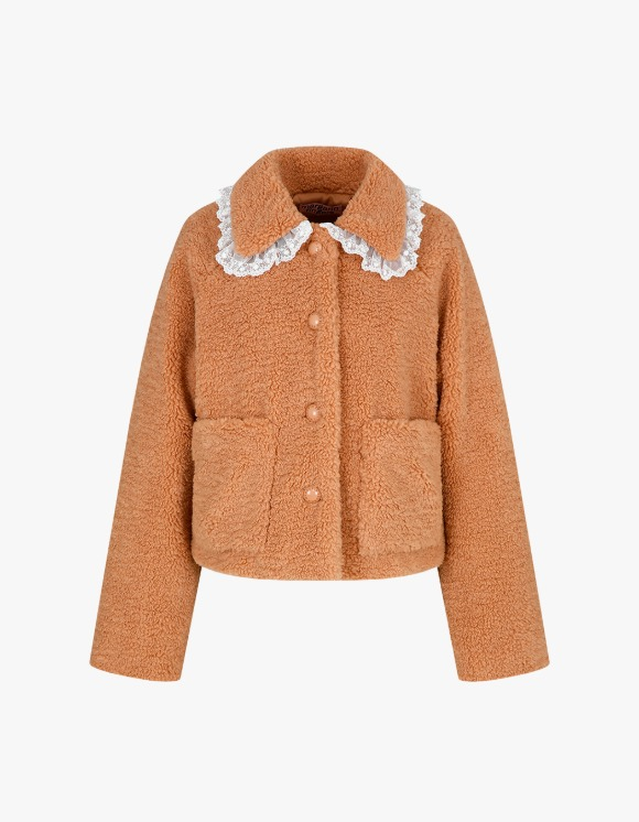 Margarin Fingers Teddy Lace Fur - Camel | HEIGHTS. | International Store