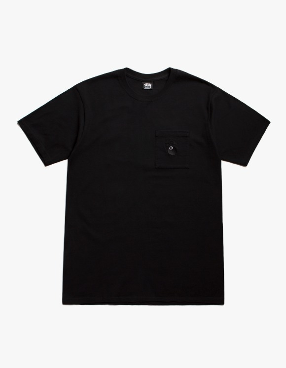 Stussy 8 Ball Pocket Crew - Black | HEIGHTS. | International Store
