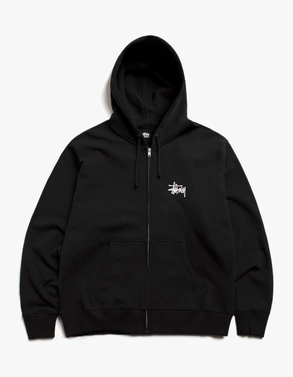 Stussy Basic Stussy Zip Hood - Black | HEIGHTS. | International Store