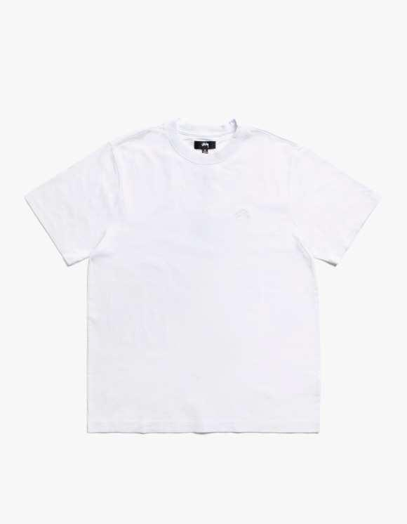 Stussy Stock Logo S/S Crew - White | HEIGHTS. | International Store