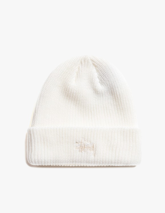 Stussy Basic Cuff Beanie - Natural | HEIGHTS. | International Store