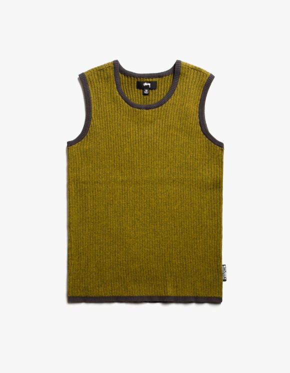 Stussy Talo Sweater Vest - Yellow Melange | HEIGHTS. | International Store