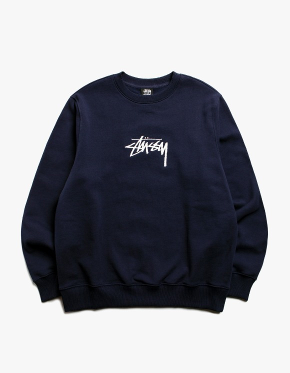 Stussy Stock App. Crew - Navy | HEIGHTS. | International Store