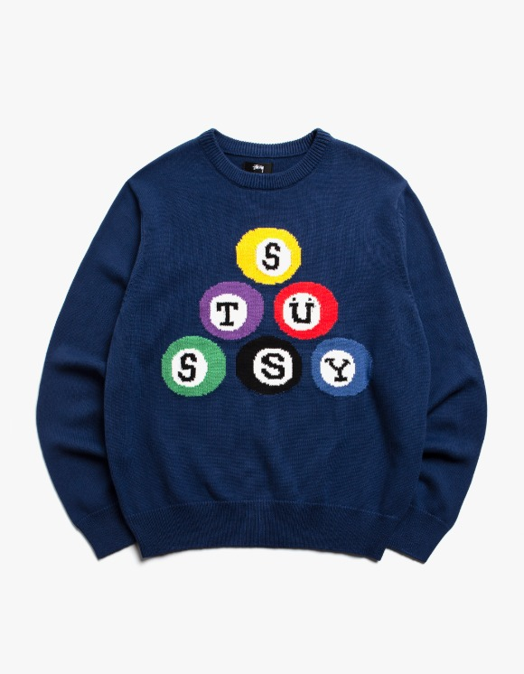 Stussy Stussy Billard Sweater - Navy | HEIGHTS. | International Store