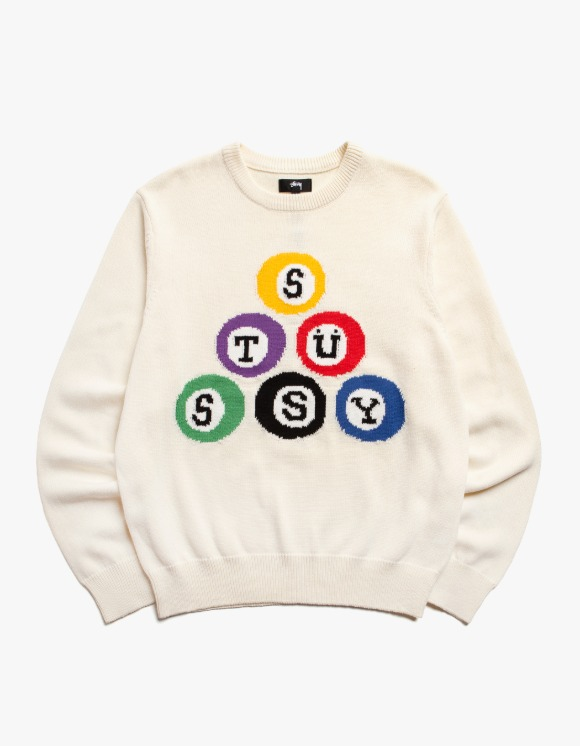 Stussy Stussy Billard Sweater - Natural | HEIGHTS. | International Store