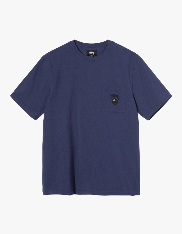 Stussy 8 Ball Pocket Crew - Navy | HEIGHTS. | International Store