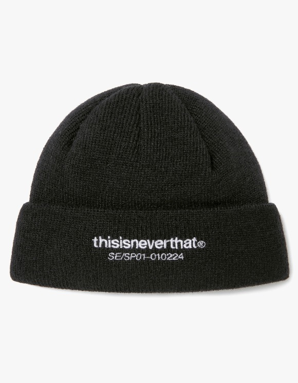 thisisneverthat T-Logo Short Beanie- Black | HEIGHTS. | International Store