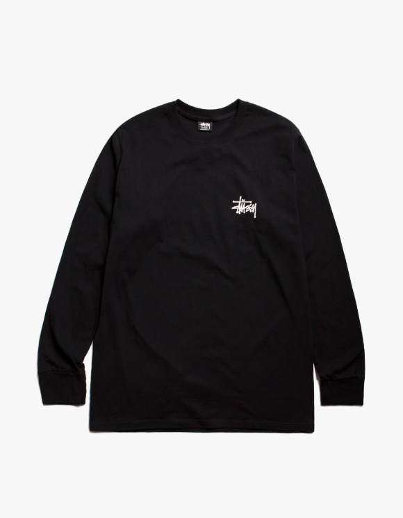 Stussy Basic Stussy L/S Tee - Black | HEIGHTS. | International Store