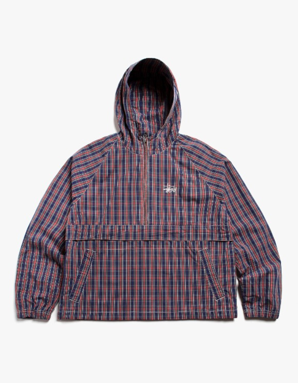 Stussy Brushed Cotton Anorak - Plaid | HEIGHTS. | International Store