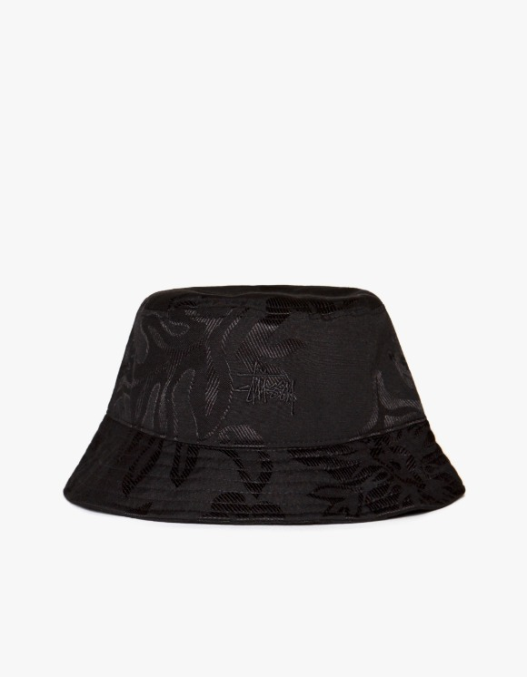 Stussy Jacquard Hawaiian Bucket Hat - Black | HEIGHTS. | International Store