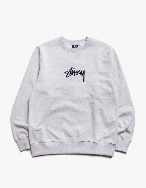 Stussy Stock App. Crew - Ash Heather | HEIGHTS. | International Store