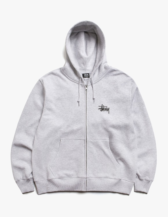 Stussy Basic Stussy Zip Hood - Ash Heather | HEIGHTS. | International Store