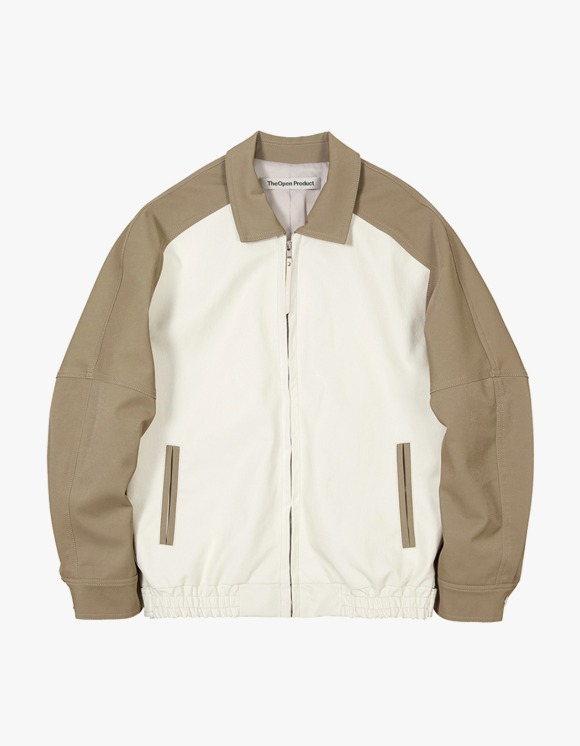TheOpen Product Color Block Bomber Jacket - White | HEIGHTS. | International Store