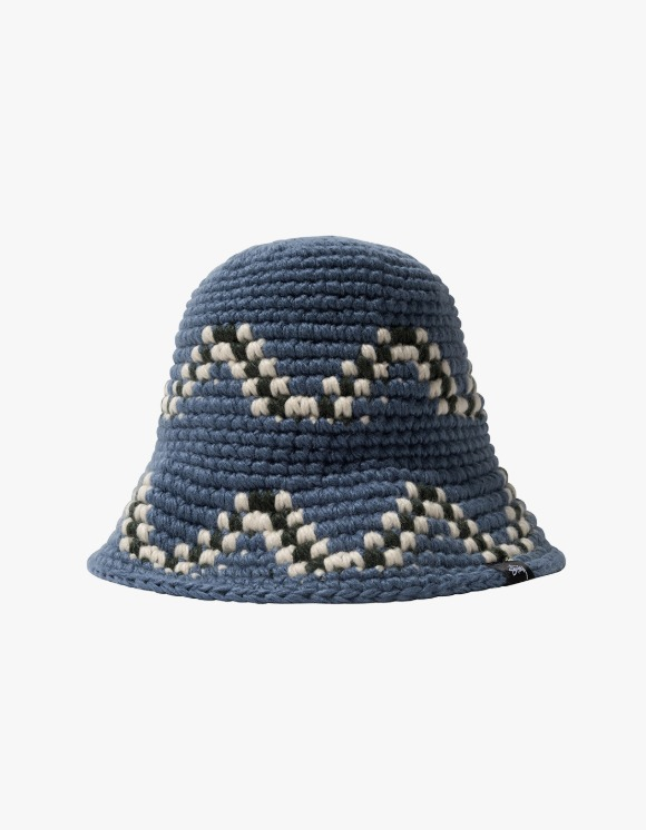Stussy Giza Knit Bucket Hat - Blue | HEIGHTS. | International Store