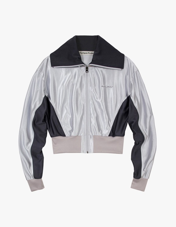TheOpen Product Glossy Track Jacket - Silver | HEIGHTS. | International Store
