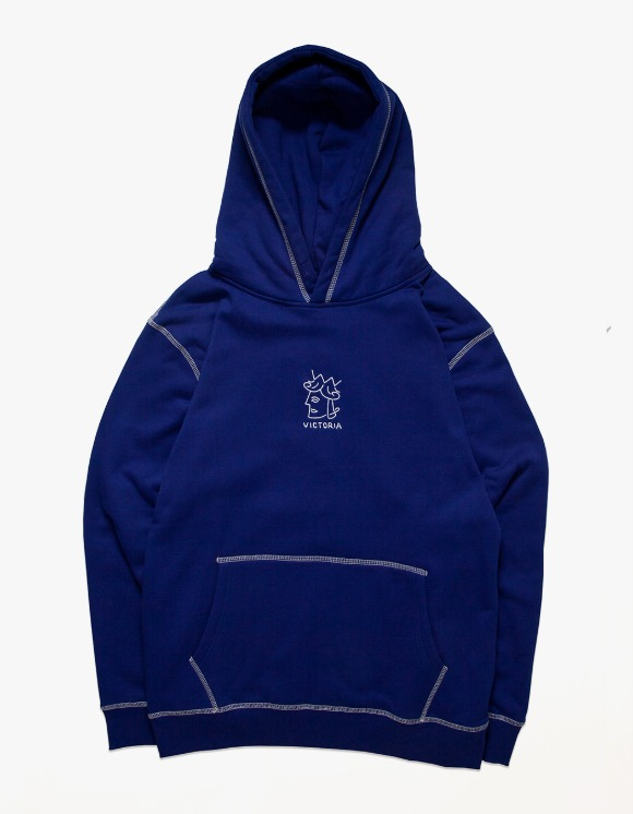 Victoria Hong Kong QH Embroidered Hoodie - Royal Blue | HEIGHTS. | International Store