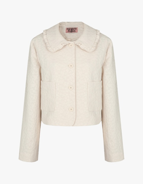 Margarin Fingers Jacquard Frill Jacket - Cream | HEIGHTS. | International Store