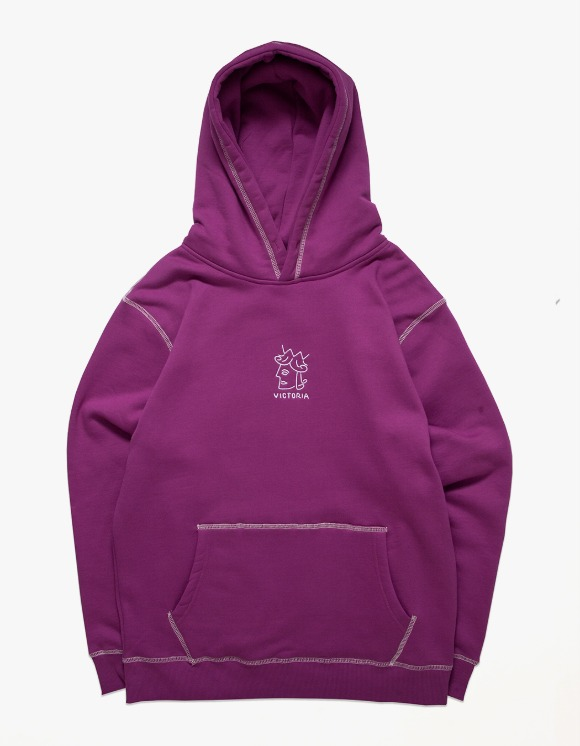 Victoria Hong Kong QH Embroidered Hoodie - Purple | HEIGHTS. | International Store