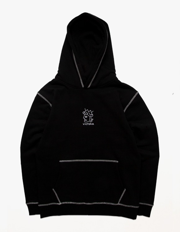 Victoria Hong Kong QH Embroidered Hoodie - Black | HEIGHTS. | International Store