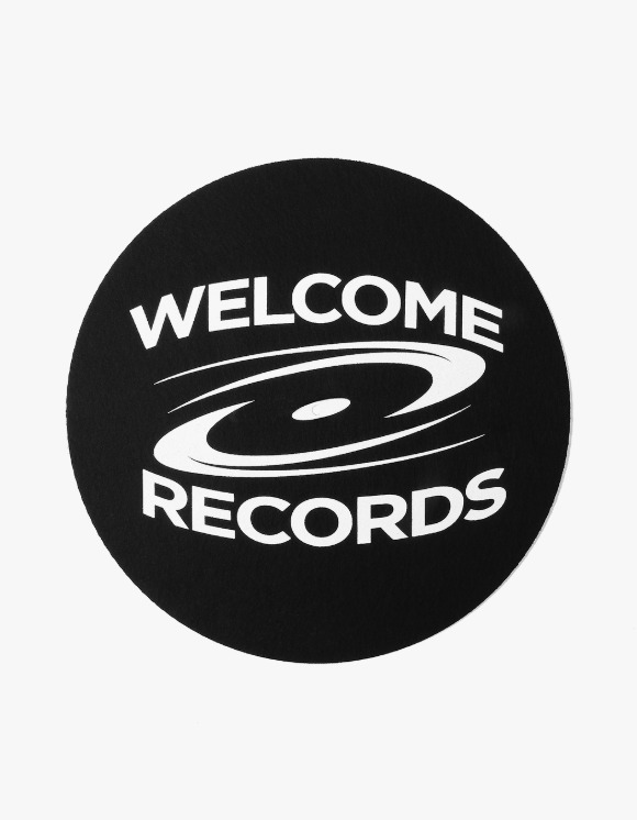 Welcome Records Welcome Slipmat - Black | HEIGHTS. | International Store