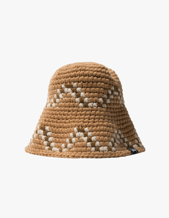 Stussy Giza Knit Bucket Hat - Brown | HEIGHTS. | International Store