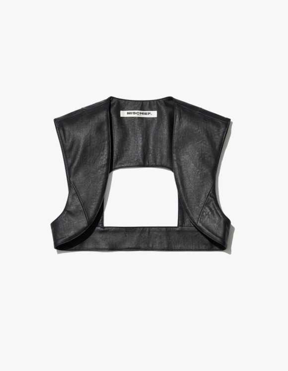 MISCHIEF Faux Leather Armour - Black | HEIGHTS. | International Store