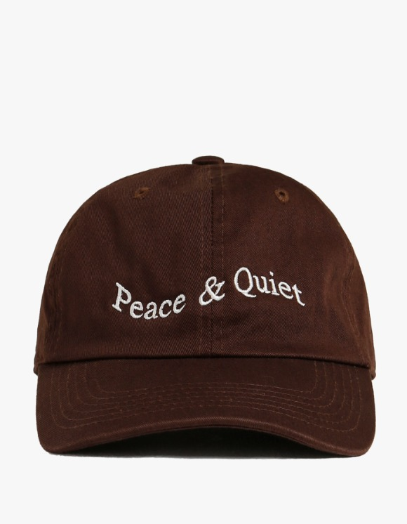 Museum Peace & Quiet Wordmark Cap - Brown | HEIGHTS. | International Store