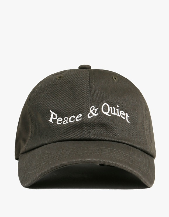 Museum Peace & Quiet Wordmark Cap - Forest | HEIGHTS. | International Store
