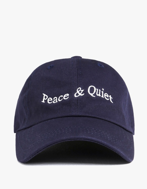 Museum Peace & Quiet Wordmark Cap - Navy | HEIGHTS. | International Store