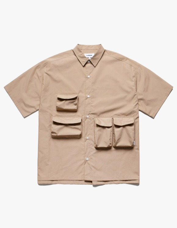 LORES Utility Pocket S/S Shirts - Beige | HEIGHTS. | International Store