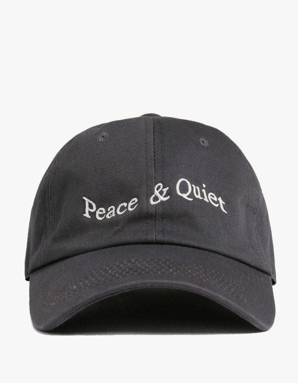 Museum Peace & Quiet Wordmark Cap - Grey | HEIGHTS. | International Store
