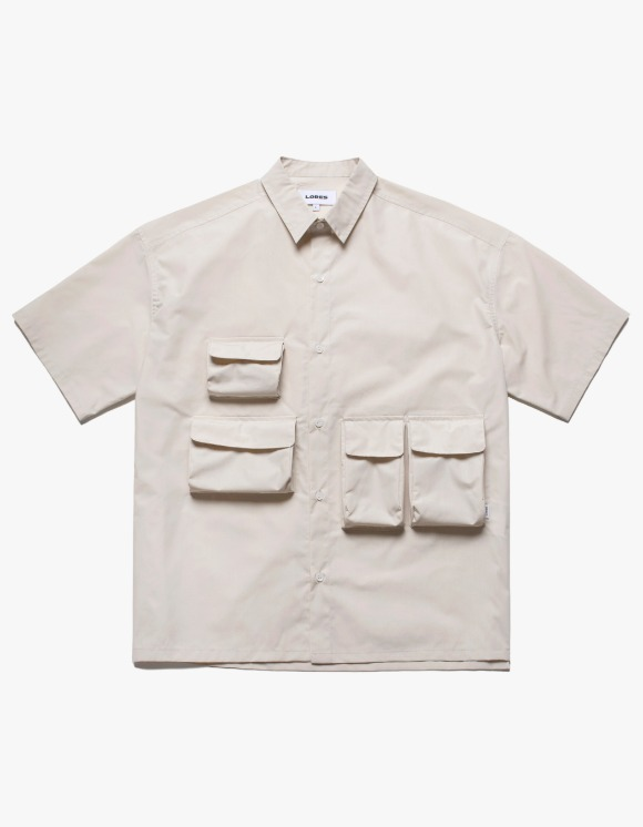LORES Utility Pocket S/S Shirts - Ecru | HEIGHTS. | International Store
