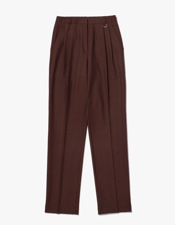 MISCHIEF Project Mago Tailored Pintuck Trousers - Brown | HEIGHTS. | International Store