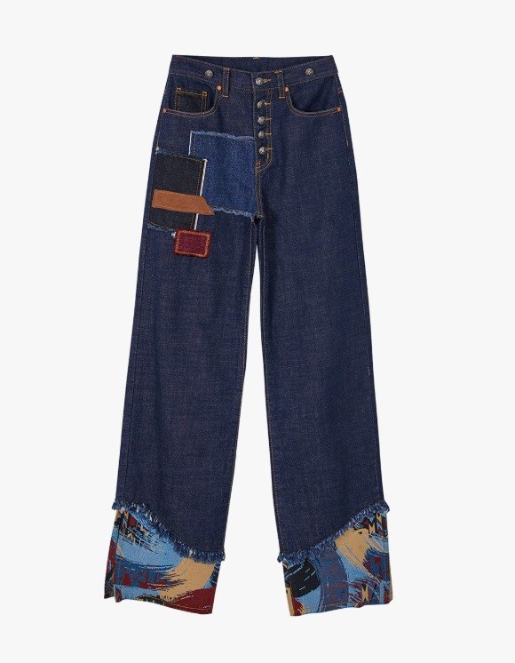 Andersson Bell Max Patchwork Denim Pants - Indigo Blue | HEIGHTS. | International Store