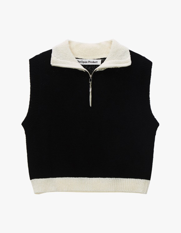 TheOpen Product Zip High Neck Knit Vest - Black | HEIGHTS. | International Store