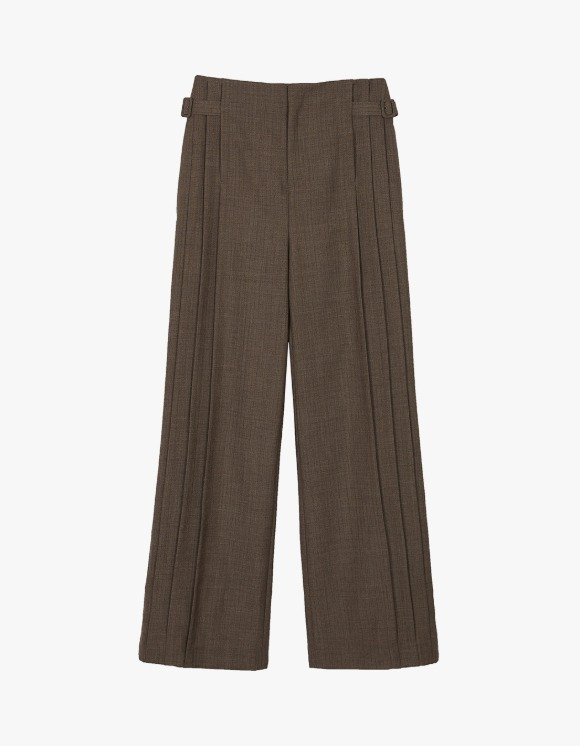 Andersson Bell Carina Pleats Wide String Pants - Brown | HEIGHTS. | International Store