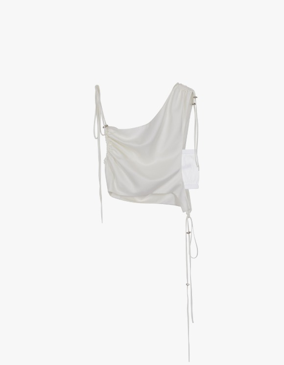 Andersson Bell Sofie Drape String Top - Ivory | HEIGHTS. | International Store