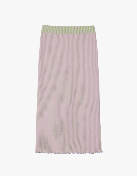 Andersson Bell Harmony Two-Tone Reversible Knit Skirt - Pink x Green | HEIGHTS. | International Store