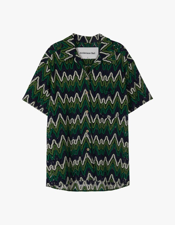 Andersson Bell Applique half Sleeve Shirts - Green | HEIGHTS. | International Store