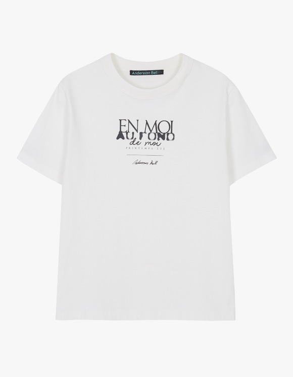 Andersson Bell EN Moi Print Tee - White | HEIGHTS. | International Store