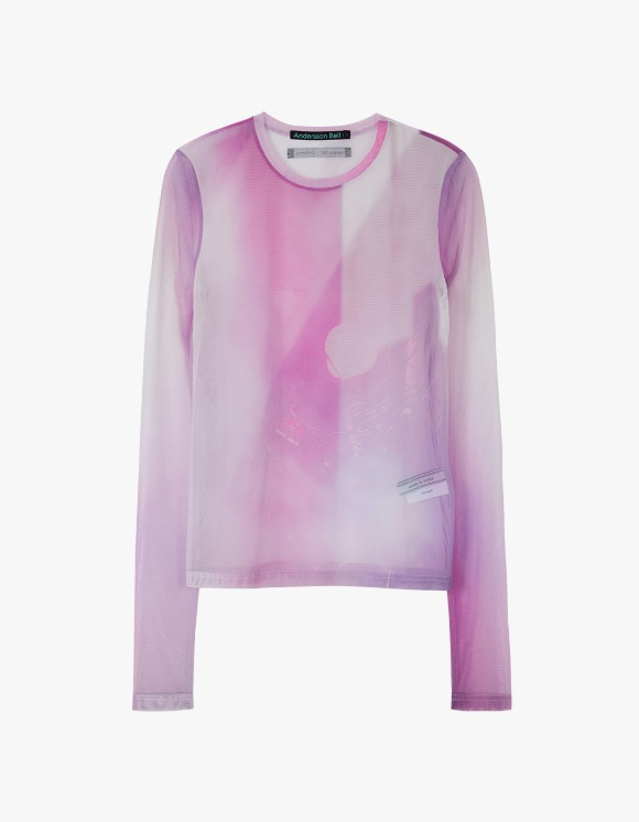 Andersson Bell Film Archive Stretch Mesh Top - Pink | HEIGHTS. | International Store