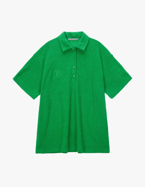 TheOpen Product Terry Collared S/S Tee - Green | HEIGHTS. | International Store