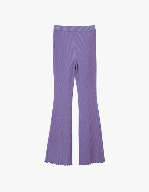 Andersson Bell Gianna Two-Tone Boots Cut Knit Pants - Blue x Purple | HEIGHTS. | International Store